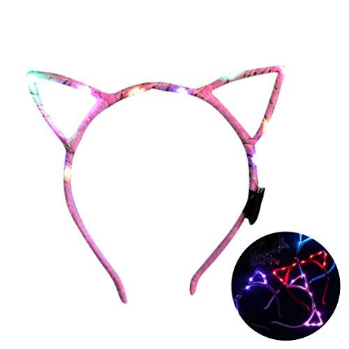Bandeau Led Light Up Headband pour Femmes Bandeau Led Cat Ear - Mignon pour la Décoration à Fête pour Femme Fille