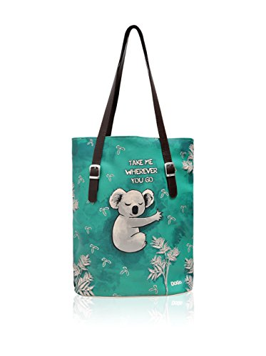 DOGO Damen Koala Hug Schultertasche, türkisgrün