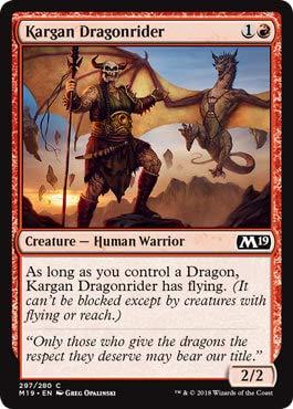 Magic: The Gathering - Kargan Dragonrider - Planeswalker Deck Exclusive - Core Set 2019