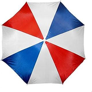 "Beach Umbrella 72"" Wide & 72"" High, Red/Blue/white, 72"" wide & 72"" high"