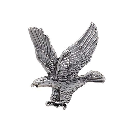 Qixuan Accesorios del Vestido de Fiesta del Pin de la Solapa del águila del Broche de Eagle del Vintage de los Hombres