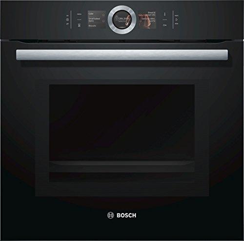 Bosch HMG6764B1 Serie 8 Einbau-Backofen mit Mikrowellenfunktion / 67 L / 800 W / Schwarz / Klapptür / TFT-Display / 12 Beheizungsarten / Bosch Assist / EcoClean Direct