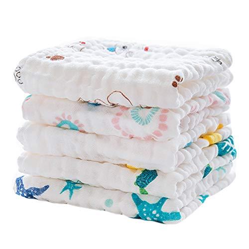 East Utopia Baby-weiche Baumwollhandtücher Schnell saugfähige Handtücher 5 Packungen