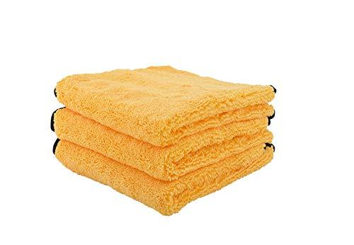 """Chemical Guys MIC_506_03 Professional Grade Premium Microfiber Towels, Gold 16"""" x 16"""", Pack of 3"""