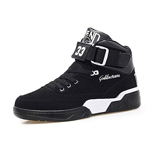 FZUU 2017 Hip Hop Mann Straßen Schuh Schuhe Sneaker 45 EU, Schwarz 920