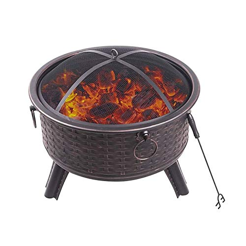 Estufa de calefacción para el hogar, patio al aire libre, brasero a la parrilla, estufa de barbacoa de ostra, parrilla sin humo de carbón al aire libre, para picnic hoguera patio trasero jardín