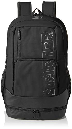 Starter Logo Backpack, Amazon Exclusive, Black, One Size