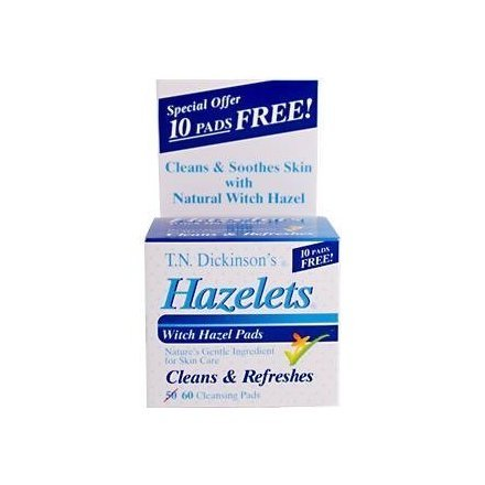 T.N. Dickinson: Witch Hazel Cleansing ct, 60 ct (4 pack) by DICKINSON BRANDS
