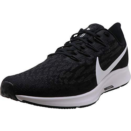 Nike Men's Air Zoom Pegasus 36 Tb Black/White Thunder Grey Ankle-High Mesh Running - 9M