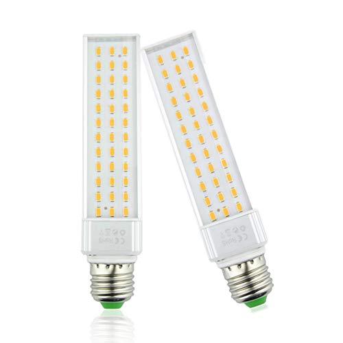 Luxvista 13W E27 LED Bombilla de Acuario-Horizontal Posición LED Lámpara-Blanco Cálido 3000K, para todos los Pescado Pod y Pescado caja Acuarios (2 Unidades)