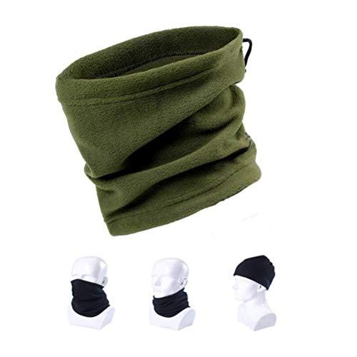 Sciarpa Scaldacollo Unisex In Pile Polare Multifunzionale Per Attività All'Aperto Sport Da Lavoro Maschera Da Sci Sport Invernali Abbigliamento Invernale Abbigliamento Invernale (Verde Militare)