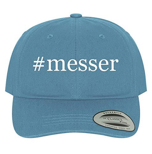 BH Cool Designs #Messer - Men's Soft & Comfortable Dad Baseball Hat Cap, Light Blue, One Size