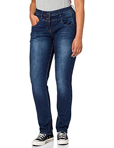 Cecil Damen Toronto Jeans, mid Blue wash, W34/L32