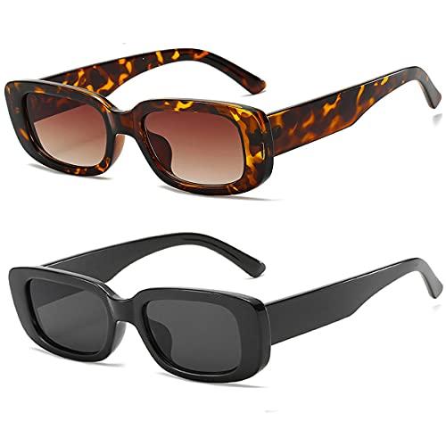 Dollger Rectangle Sunglasses for Women Men Trendy 90s Retro...