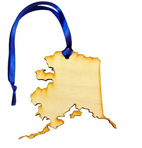Westman Works State of Alaska Wooden Christmas Ornament Handmade in The U.S.A.