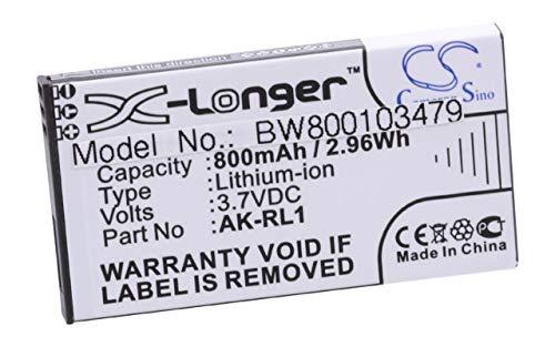 vhbw Li-Ion Akku 800mAh (3.7V) passend für Seniorentelefon, Handy Emporia Essence RL1, VF1C ersetzt AK-RL1.
