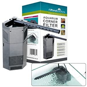 All Pond Solutions CIF Corner Internal Fish Tank Filter and Replacement Foams (650-CIF)