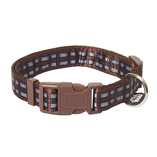 STAR WARS Chewbacca Medium Dog Collar   Brown and Black Medium Size Dog Collar   Dog Collar for Medium Dogs with D-Ring, Cute Dog Apparel & Accessories for Pets,Multi,Medium (Pack of 1),FF16924