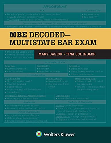 The MBE Decoded: Multistate Bar Exam (Bar Review)