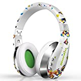 Bluedio A (Air) Stylish Fashionable Wireless Bluetooth Headphones with Microphone HD Diaphragm Twistable Headband 3D Surround Sound (White)