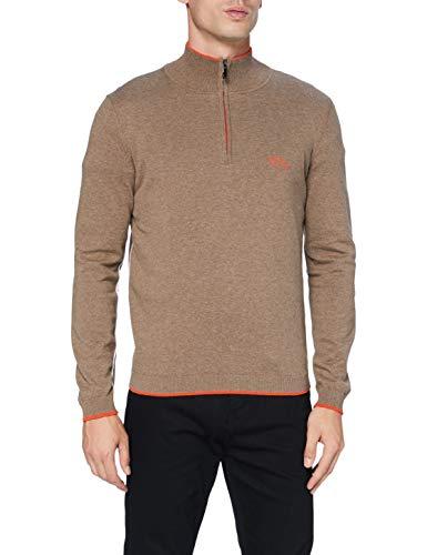 BOSS Mens Ziston_W20 Sweater, Medium Brown (212), 6XL