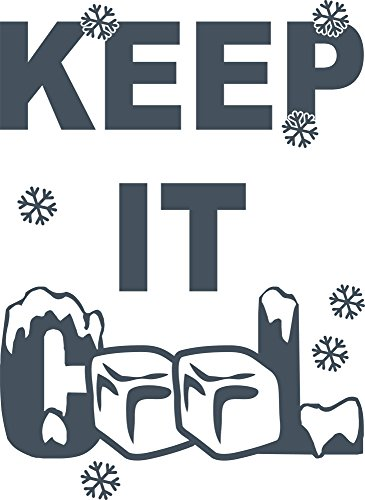 GRAZDesign koelkast sticker Keep it Cool - koelkaststicker sneeuwvlokken ijs / 620448 78x57cm 841 Blue Grey