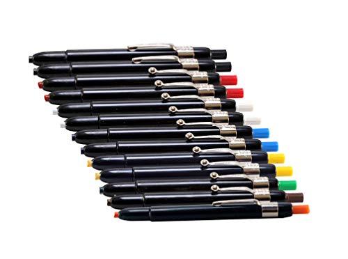 Listo 1620 Marking Pencils, Box of 12, Grease Pencils/China Marking Pencils/Wax Pencils (Colors: Assorted Colors) BONUS: 1 x Orange Listo Marking pencil included.