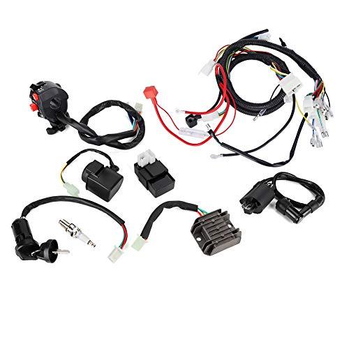 KIMISS Arnés de Cables para Motocicleta, Conjunto de CDI eléctrico para ATV, arnés de cableado eléctrico, Accesorio de Cable para ATV Quad Bike 200-300cc