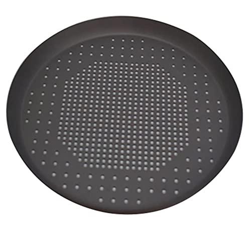 EXTLEZSA Teglia Antiaderente per Pizza Antiaderente con Foro Nero/Argento, Teglie da Forno Strumento di Cottura in Rete Piatti Portapiatti Accessori Teglia per Pizza (Color : Black 10inch)