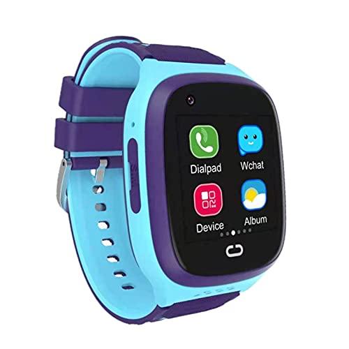 balikha Reloj de Pulsera Inteligente IP67 Pantalla táctil a Prueba de Agua Relojes Inteligentes HD Selfie Cámara Rastreador GPS Reloj Inteligente para niños - Azul