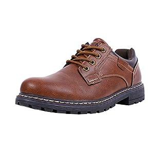 [MORENDL] ワークブーツ メンズ 登山靴 トレッキングシューズ アウトドア レザー シューズ ブーツ 防滑 厚底 靴