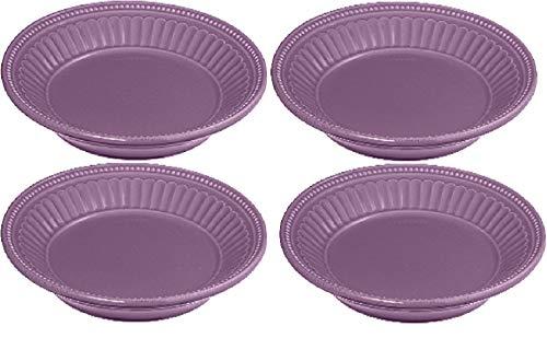 Lenox French Perle Lavender 4 Dessert Plates LIGHT PURPLE New in box