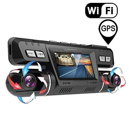 YOUANDMI Dash Cam,2160P UHD GPS WiFi Anteriore e Posteriore Doppia 170 Gradi Grandangolare Telecamera Dashcam con 128 GB Micro SD Carta,Sony WDR Visione Notturna,ADAS per Monitoraggio Atti Vandalici
