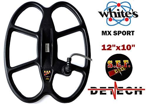 DETECH 12 × 10 '' S.E.F. Bobina de búsqueda de Mariposa para Whites MX Sport Detector de Metal con Cubierta Protectora de Bobina incluida