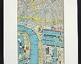MG global Mapa de Londres de los años 20, Isla de los perros, Londres Docks, East London, montado/mate para enmarcar, decoración del hogar, colgar en la pared, regalo 22