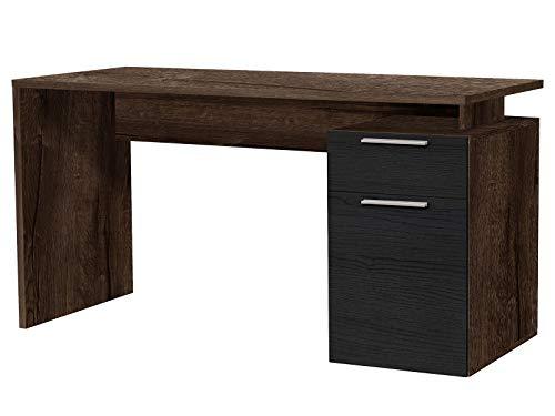 möbelando Schreibtisch Bürotisch Computertisch Arbeitstisch Tisch Büromöbel Balu III Schlammeiche/Schwarzeiche