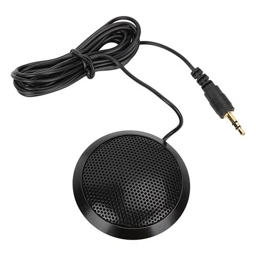 Qqmora Micrófono de Escritorio portátil, micrófono portátil fácil, Claro para conferencias de Oficina para Crear podcasts y negociación para reuniones en línea para Skype