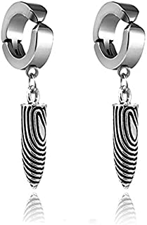 OPK Stainless Steel drop and dangle clip Earrin without ear hole