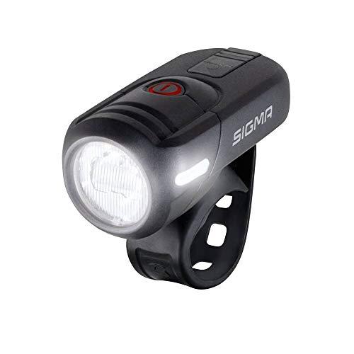 Fietsverlichting USB AV op kleerhangers Sigma Aura 45 Lux zwart