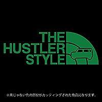 ハスラー 52・92系 ステッカー THE HUSTLER STYLE【カッティングシート】パロディ シール(12色から選べます) (白) (グリーン)