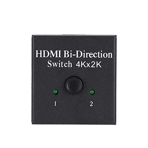 DAUERHAFT 3D 1080P 4Kx2K HD Bidirectional Switcher with HDMI 2-Port,Swithed Freely DC 5V / 1A 225MHz Distributor,for Home Host Devices