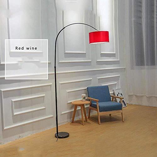 YHtech Lámpara de pie, Piano LED que pesca vertical creativas de pie luminarias for sala de estar Estudio vertical Reading Lights dormitorio remoto de control de alimentación Lámparas