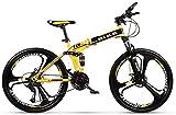 SEESEE.U Bicicleta de montaña para Hombres 24/26 Pulgadas Bicicleta Plegable Bicicleta MTB Bicicleta Urban Track para Mujeres Hombres Niñas Niños, Turno de 24 etapas, 24 Pulgadas