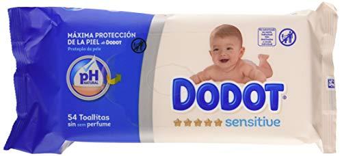 Imagen para Dodot Sensitive Toallitas para Bebé 15 Paquetes de 54 Unidades, 810 Toallitas