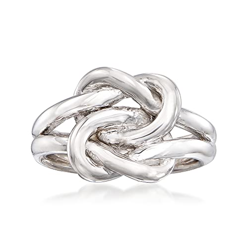 Ross-Simons Italian Sterling Silver Double Love Knot Ring. Size 9
