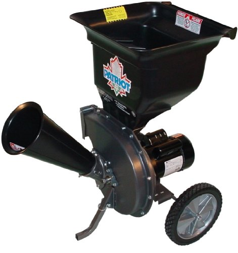 Patriot Products CSV-2515 14 Amp Electric Wood Chipper/Leaf...