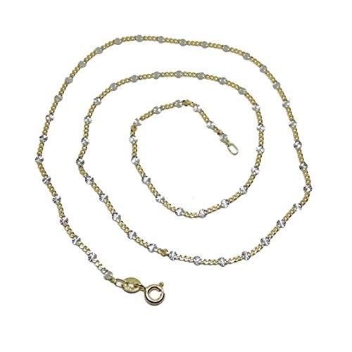 Never Say Never Cadena de Oro Amarillo y Oro Blanco de 18K de 45cm de Largo con Cierre reasa.