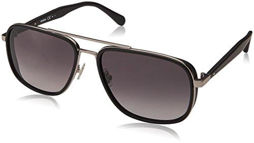 Fossil Men's FOS2064s Aviator Sunglasses, Matte Black, 58 mm