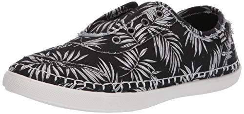 Zapatillas de lona sin cordones Billabong Cruiser para mujer, Negro (Negro Blanco), 37 EU