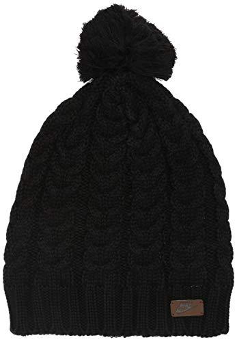 Nike Women's Sportswear Knit Pom Beanie, Black, Misc